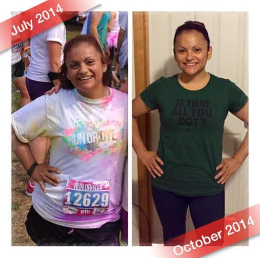 Her transformation began before the 10-week challenge