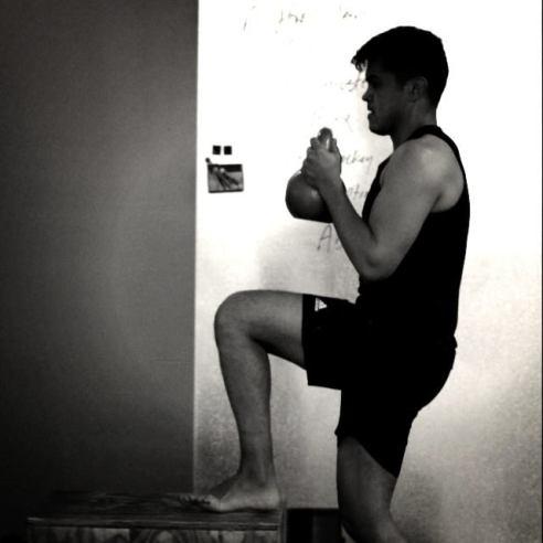 Oscar during semi-private training