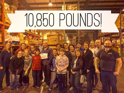 Community Challenge. This was a record breaking night for the amount of food that was provided