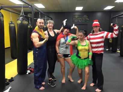 Working out can be fun. asfdasf Halloween class)