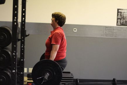 Doing deadlifts (2.0 semi-private training)