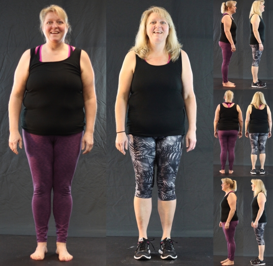 Kim Gosnell 10-week challenge before and after