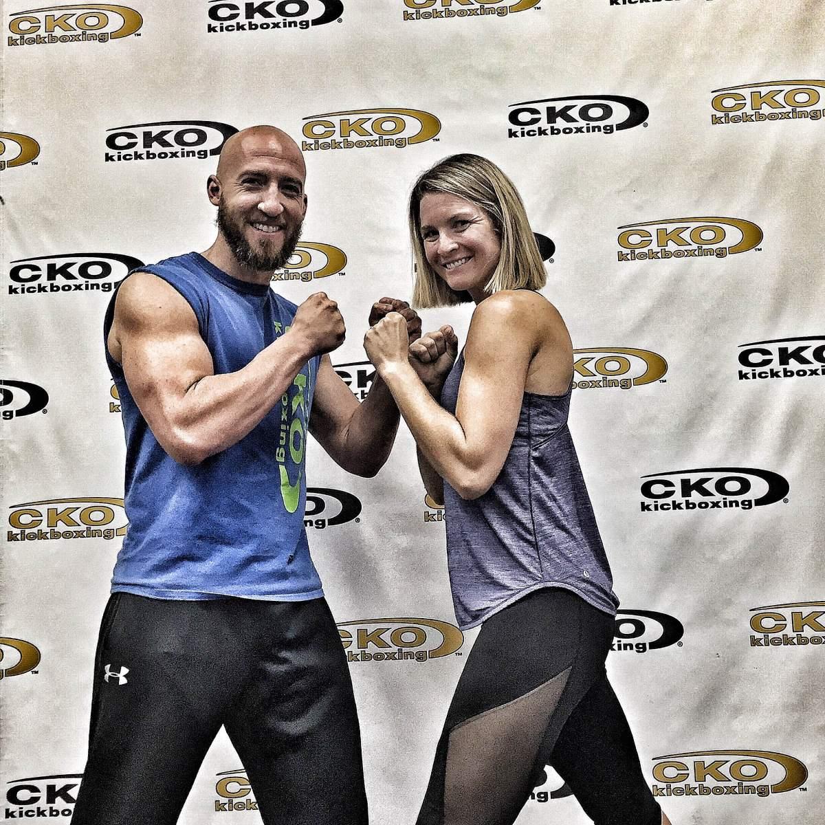 Garett Renon and Nikki Vaughan at CKO Kickboxing team renon podcast