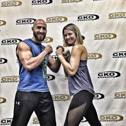 Garett Renon and Nikki Vaughan at CKO Kickboxing team renon podcast